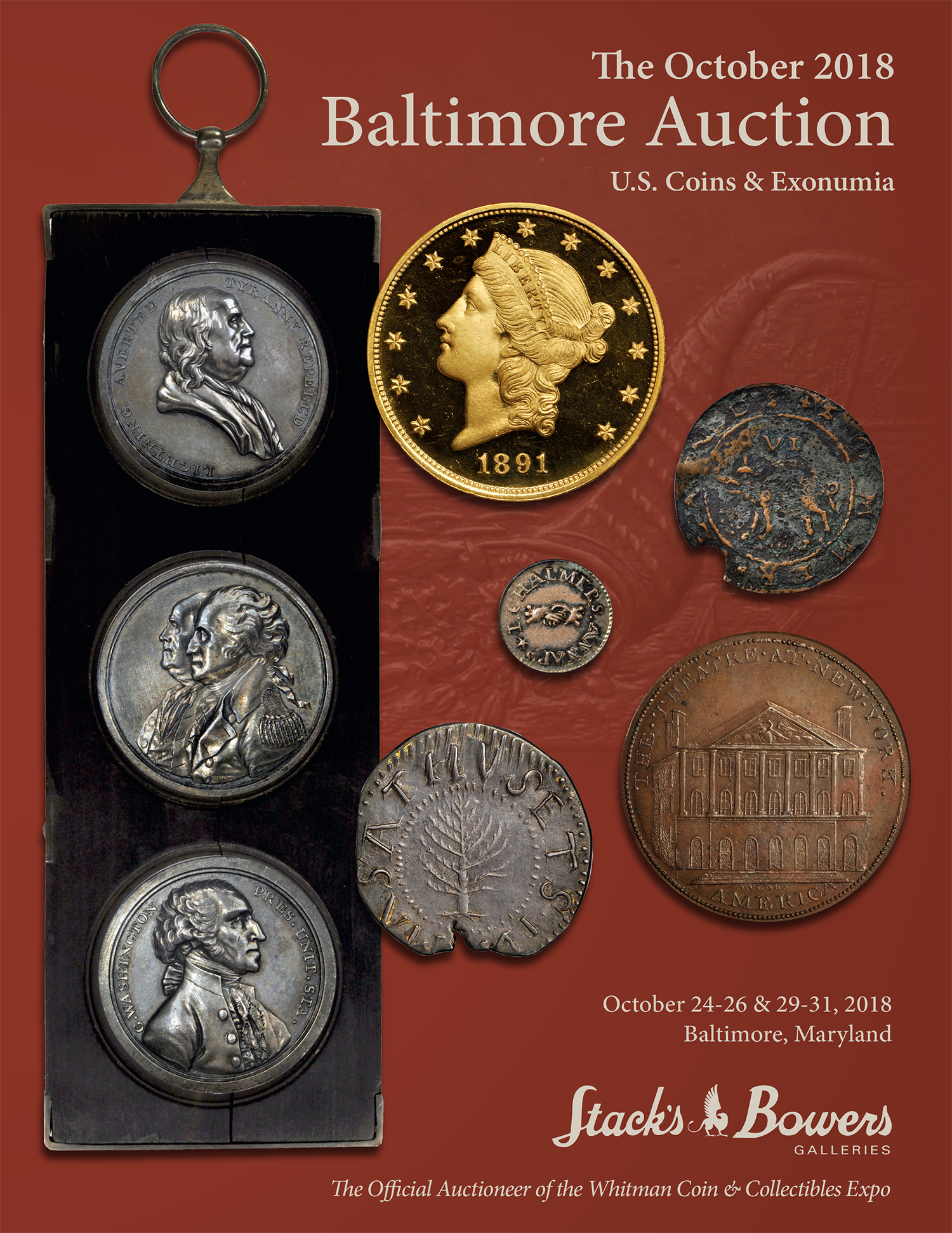 The October 2018 Baltimore Auction U.S. Coins & Exonumia