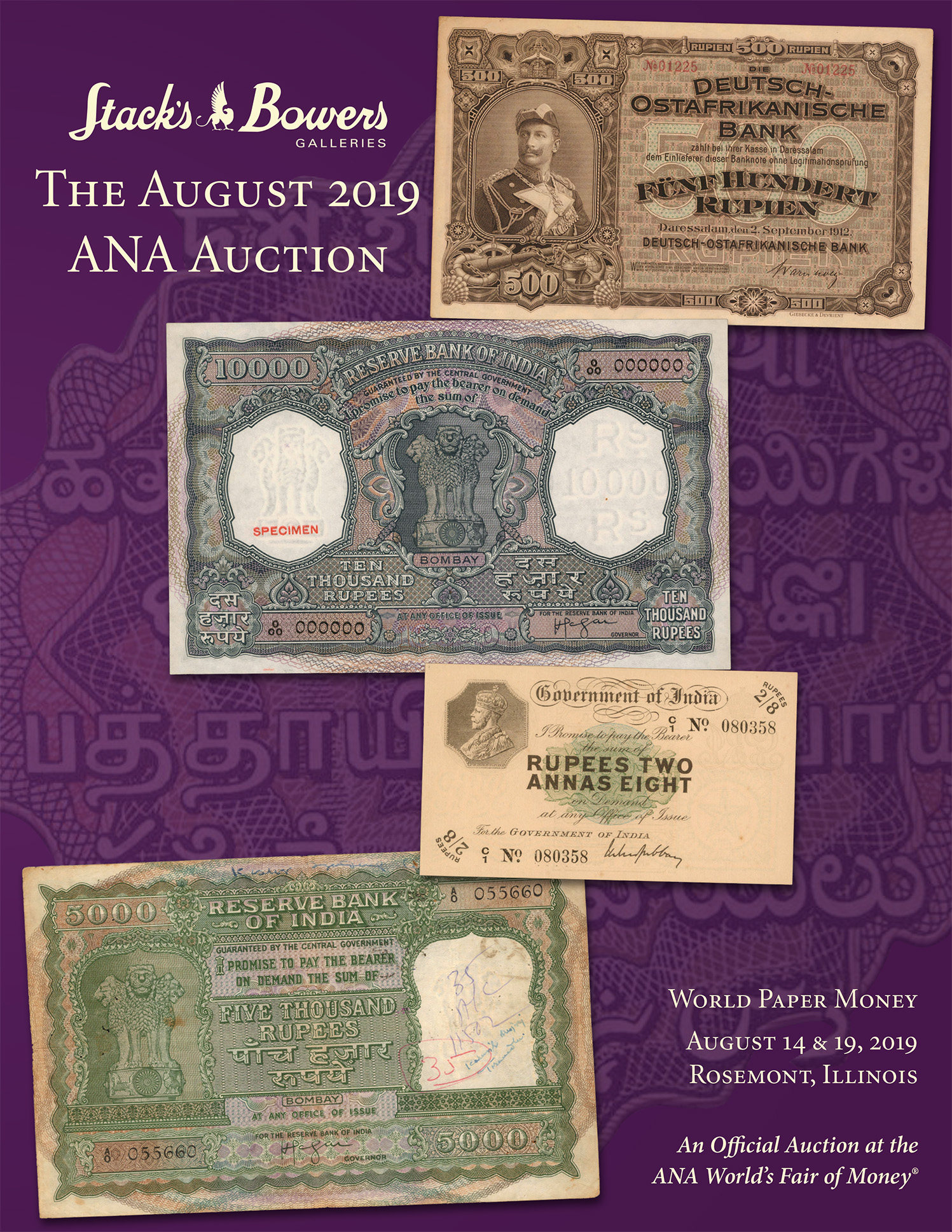 The August 2019 ANA World Paper Money Auction