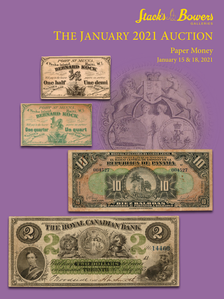 The January 2021 World Paper Money Auction