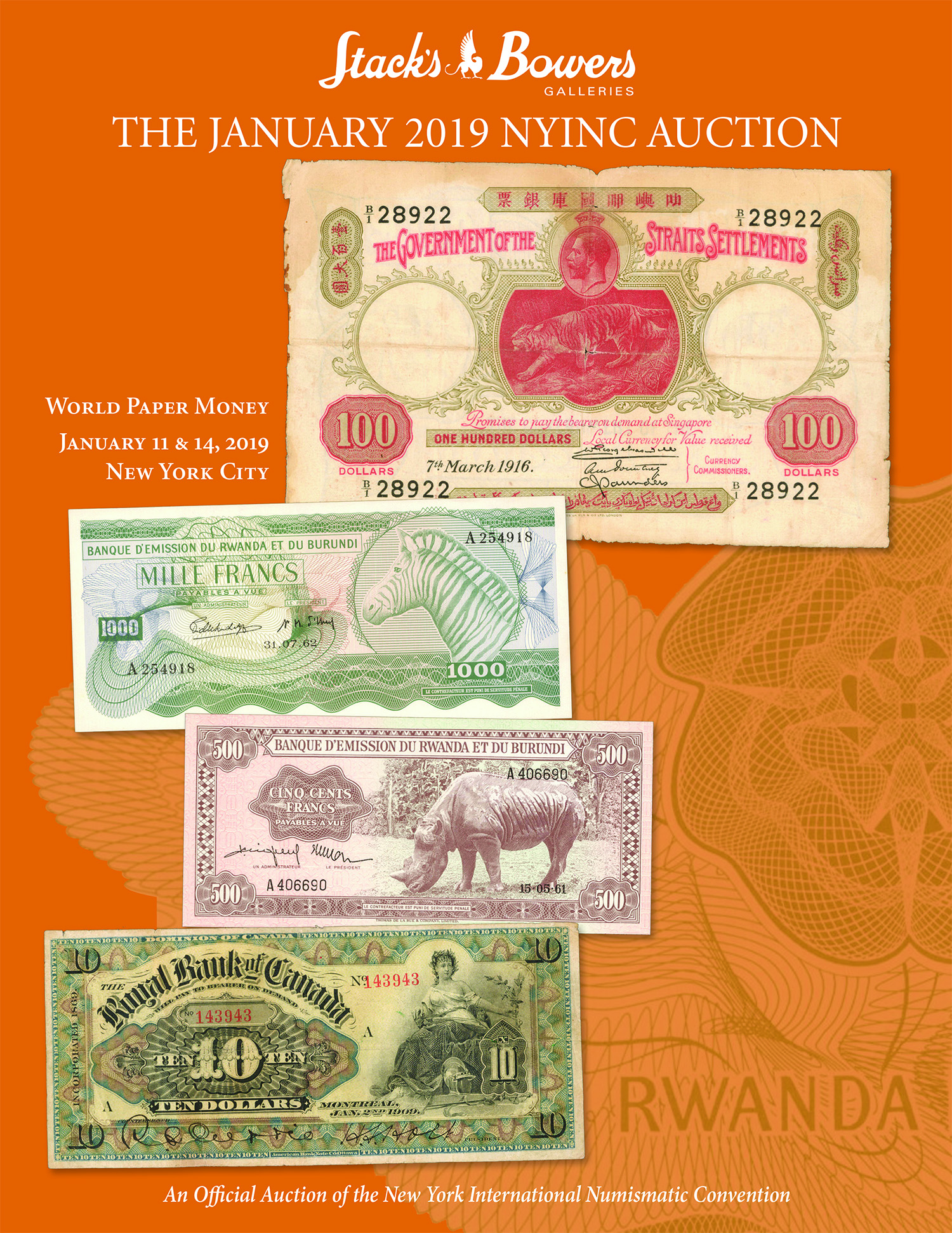 The January 2019 NYINC Auction - World Paper Money