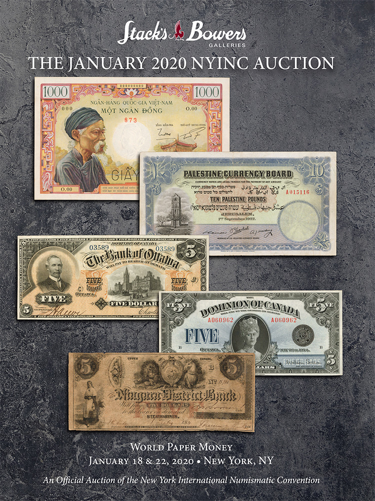 The January 2020 NYINC Auction - World Paper Money