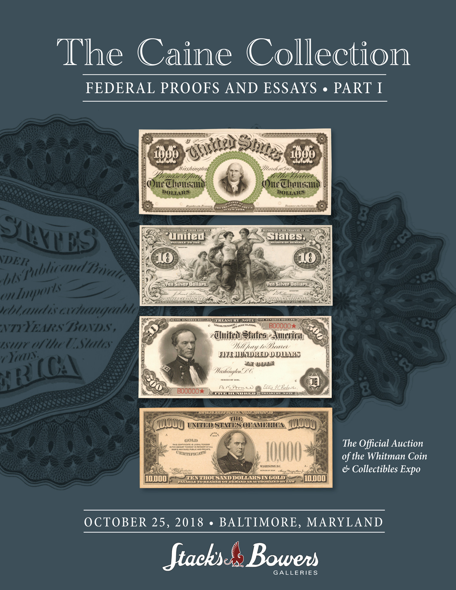 The Caine Collection, Federal Proofs and Essays: Part I