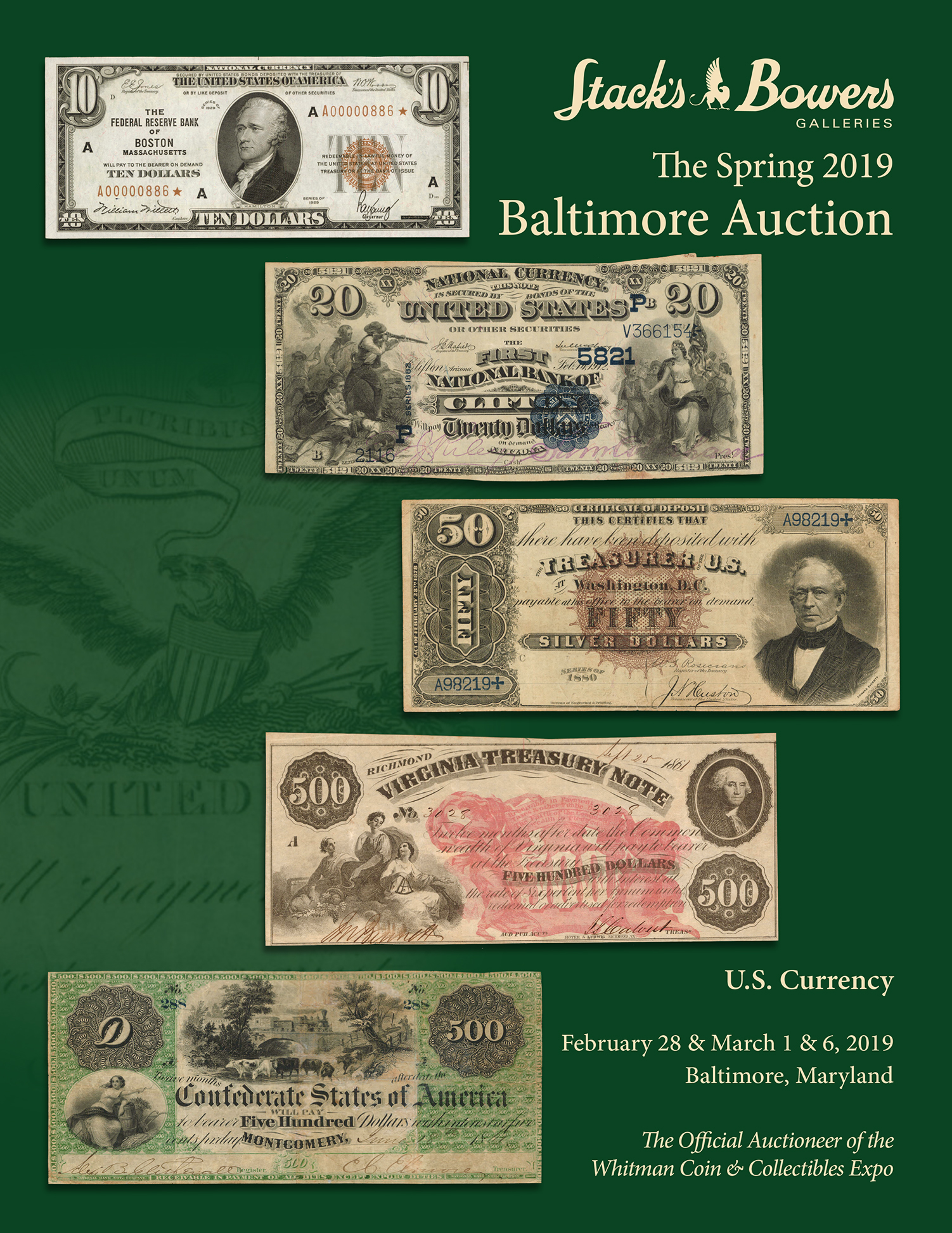 Stack's Bowers Galleries Spring 2019 Baltimore Auction